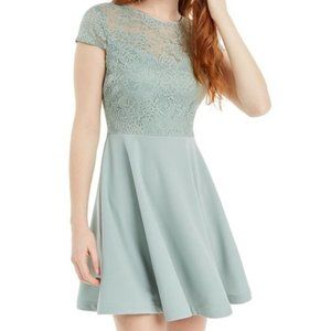 B. DARLIN | Mint Green Lace Mini Dress
